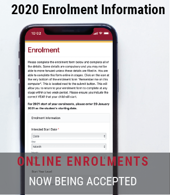 2020 On-line Enrolments