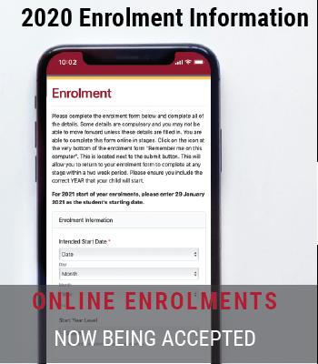2020 On-line Enrolments
