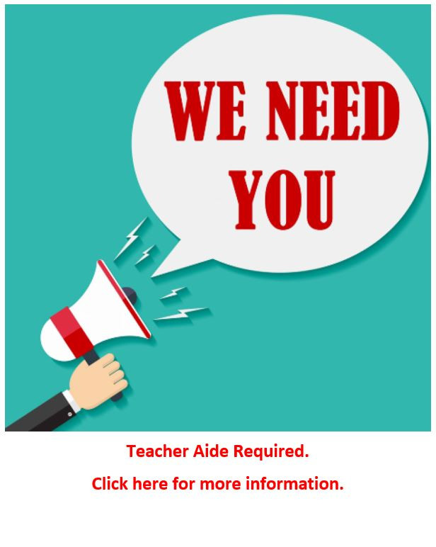 Teacher Aides Required