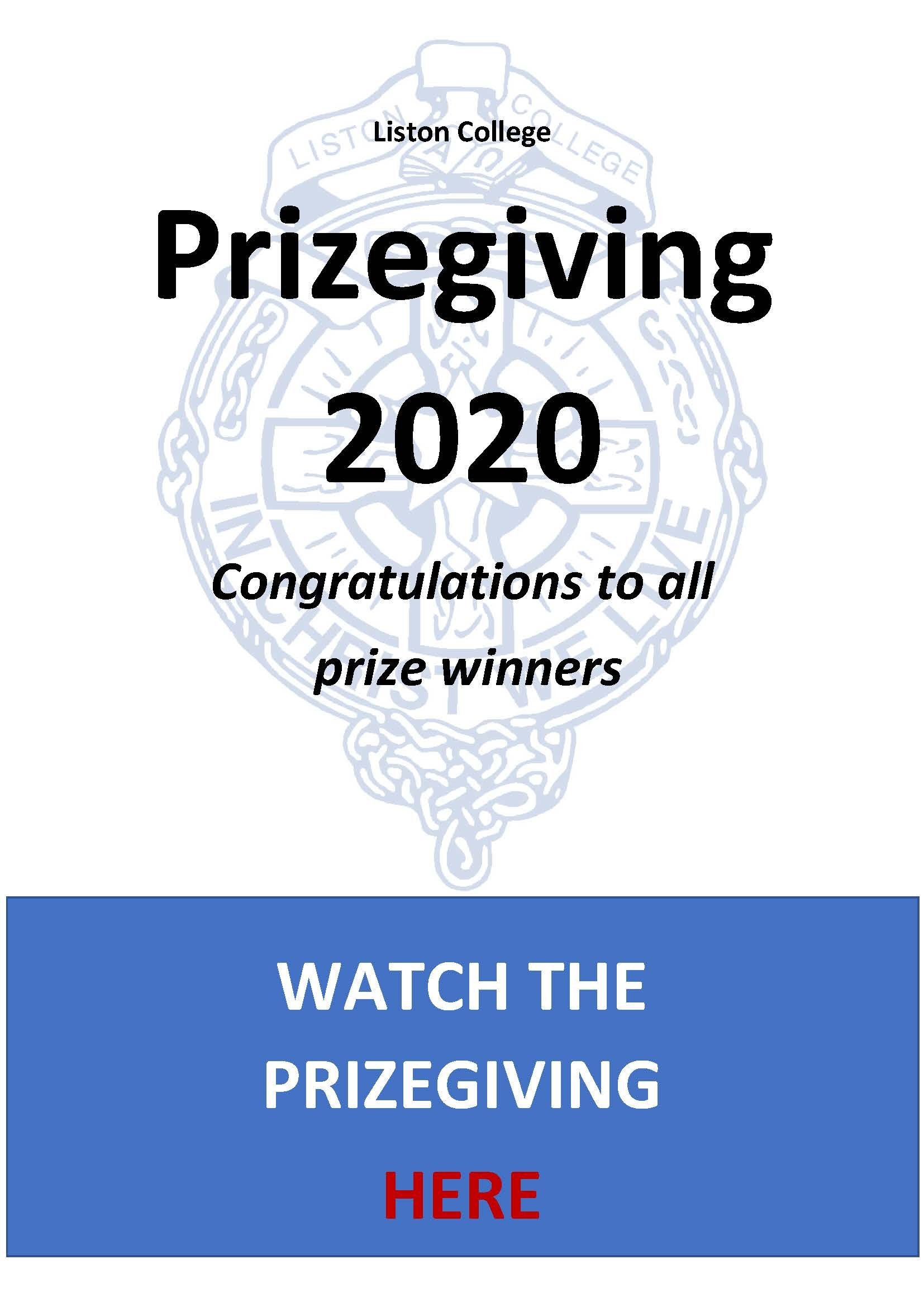 Prizegiving 2020